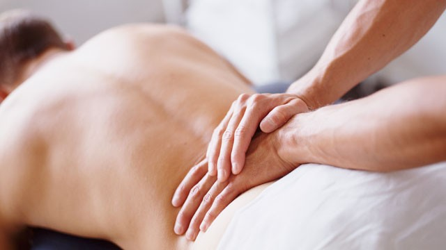 Lower-back-pain relief massage